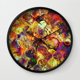 V15 Lovely Traditional Moroccan Pattern Colored Design Waves. Wall Clock