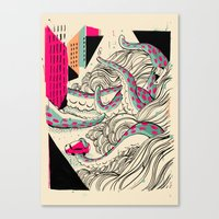 giants Canvas Prints featuring GIANTS! Pulpo by Pietari Posti