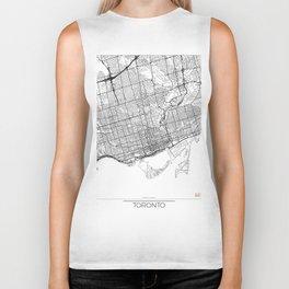 Toronto Map White Biker Tank