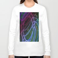 neon Long Sleeve T-shirts featuring Neon by RingWaveArt