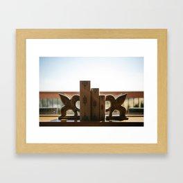 Books on Display Framed Art Print
