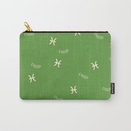 Pisces Pattern - Green Carry-All Pouch
