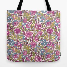 Painted Abstract Florals Tote Bag