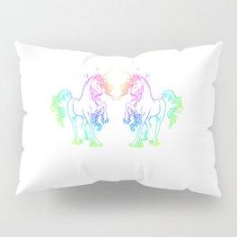 Unicorns in Rainbows Pillow Sham