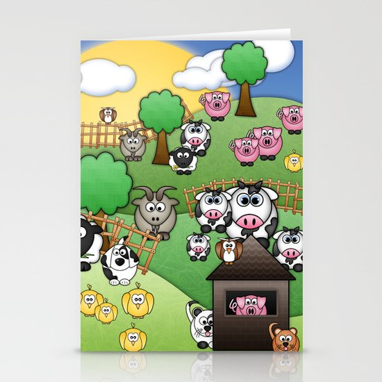 Down On Dingle Dopple Farm Stationery Cards