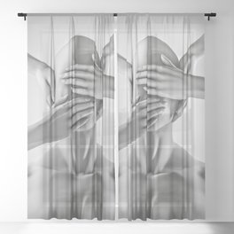 Speak no evil Sheer Curtain