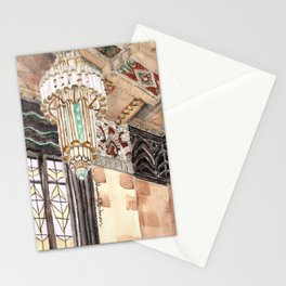 inside the Art Deco spaceship Stationery Cards