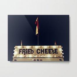 Fried Cheese Metal Print
