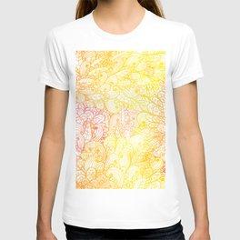 Gradient Floral Pattern 23 T-shirt