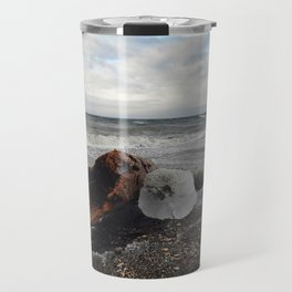 Driftwood And Ice in Spring Travel Mug