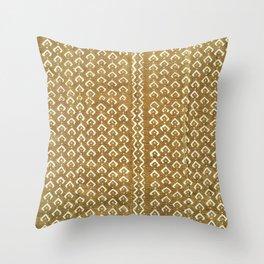 mustard croc/snakeskin mudcloth Throw Pillow