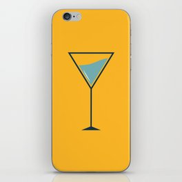 Yellow cocktail iPhone Skin