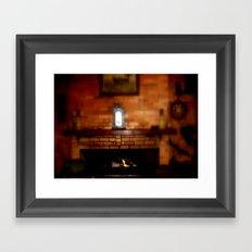 Keeping Warm Framed Art Print