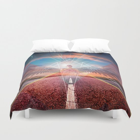 the angel  Duvet Cover