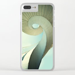 Spiral staircase in pastel tones Clear iPhone Case