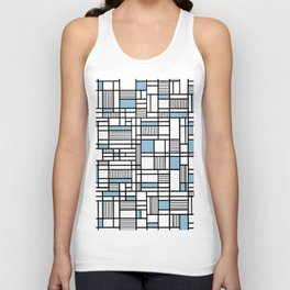Map Lines Sky Blue Unisex Tank Top