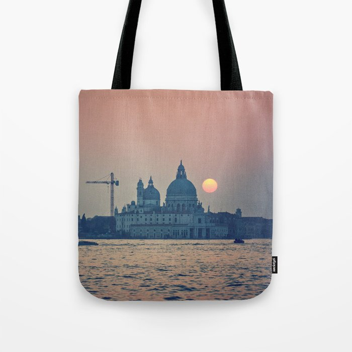 sunset at Venice under construction Tote Bag