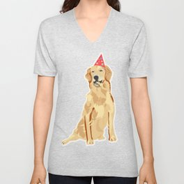 Birthday Puppy! Unisex V-Neck