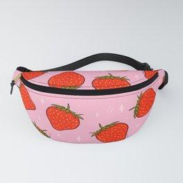 Strawberry Print Fanny Pack