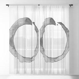 Enso Serenity 64b by Kathy Morton Stanion Sheer Curtain
