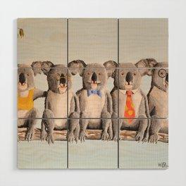 The Five Koalas Wood Wall Art