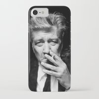 david lynch iPhone & iPod Cases featuring David Lynch by Tia Hank