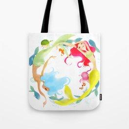 Mermaid Circle Tote Bag