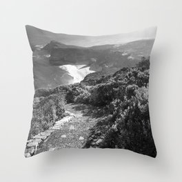Path along cliffs of Cape Point, South Africa Throw Pillow