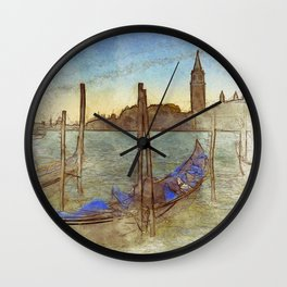 Venezia Gondola - SKETCH Wall Clock