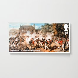 The defence of Hougoumont Metal Print