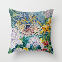 Tiger Lily II Throw Pillow