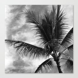 Vintage Classic Hawaiian Tropical Palm Tree Canvas Print