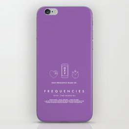 FREQUENCIES HIGH FREQUENCY (MARIE - LILAC) CHARACTER POSTER iPhone Skin