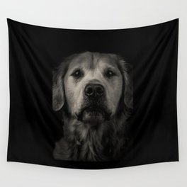 Family Dog - Peyton the Serious Dog Wall Tapestry