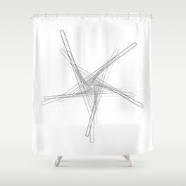 """Fly Collection"" - Abstract Minimal Letter Y Print Shower Curtain"