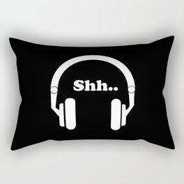 Headphones and music Rectangular Pillow
