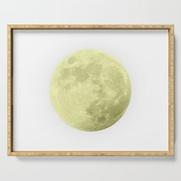 CANARY YELLOW MOON Serving Tray