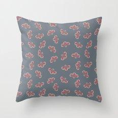 Floral Swarming  Throw Pillow