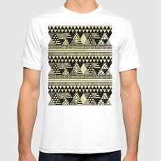 Ethnic Chic White Mens Fitted Tee MEDIUM