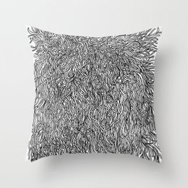 spaghetti texture Throw Pillow