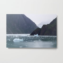 Ice in Tracy Arm Fjord Metal Print