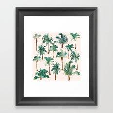 Palm Trees Pattern Framed Art Print
