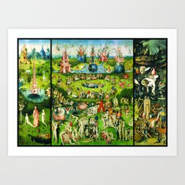 The Garden of Earthly Delights Triptych by Hieronymus Bosch Art Print