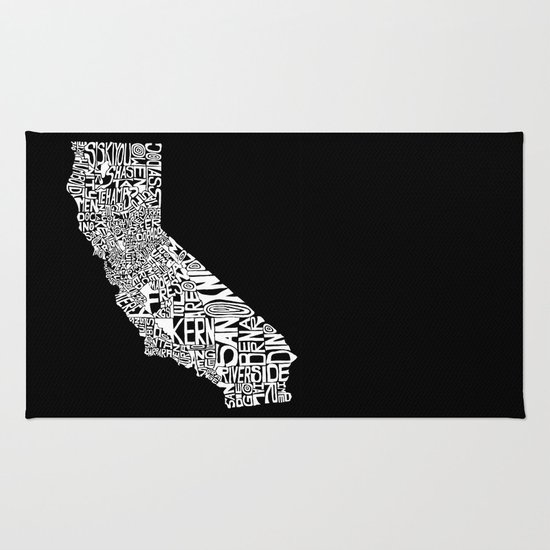 Typographic California Rug
