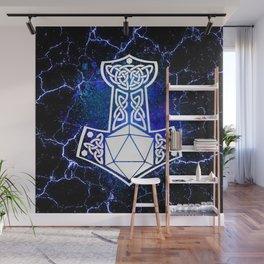 D20 Viking Mjolnir Splatter Wall Mural