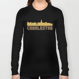 Vintage Style Charleston South Carolina Skyline Long Sleeve T-shirt