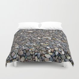 What Stories You Could Tell... Rocks of Jasper Beach Duvet Cover