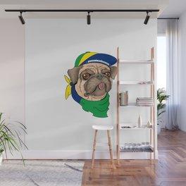 Pug Brazil Wall Mural