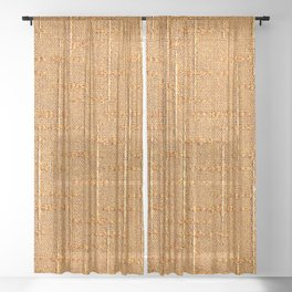 Heritage - Hand Woven Cloth Yellow Sheer Curtain
