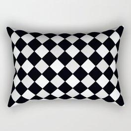 Harlequin Black and White and Gray Rectangular Pillow